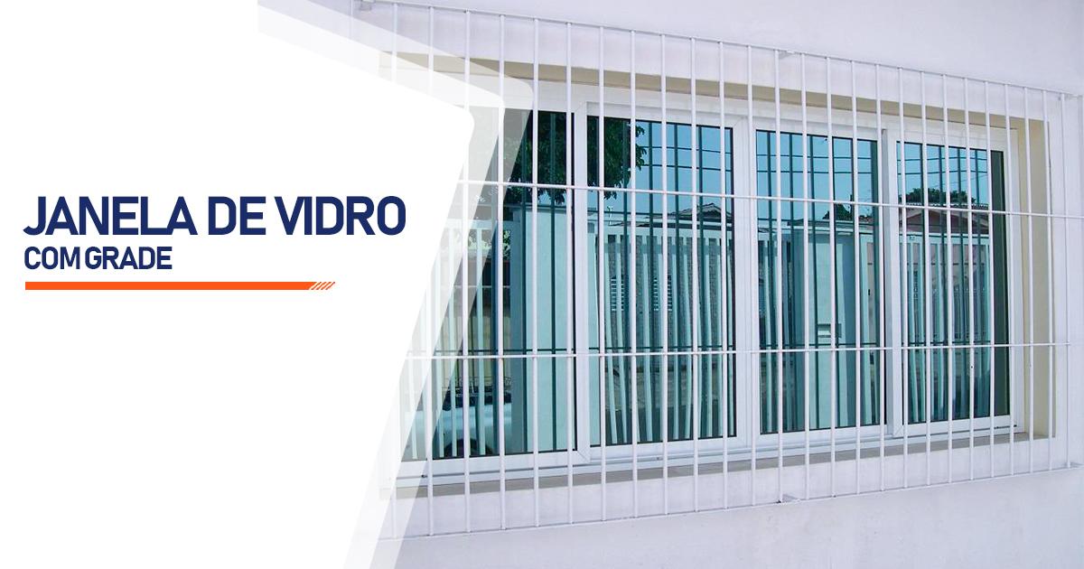 Janela De Vidro Com Grade Mogi das Cruzes