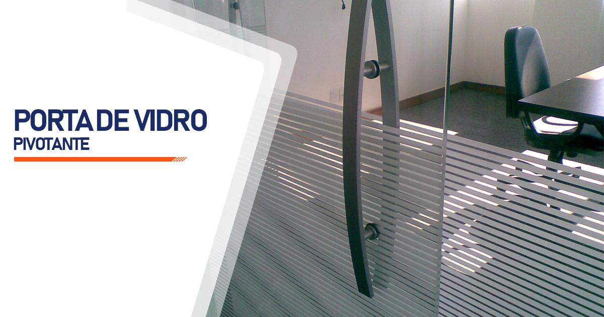 Porta Pivotante De Vidro Mogi das Cruzes